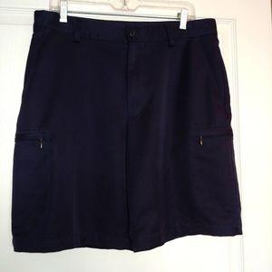 "Izod Men's Microfiber Golf Shorts Waist 34"" Navy"